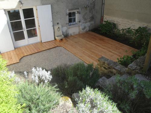 Terrasse en mélèze naturel